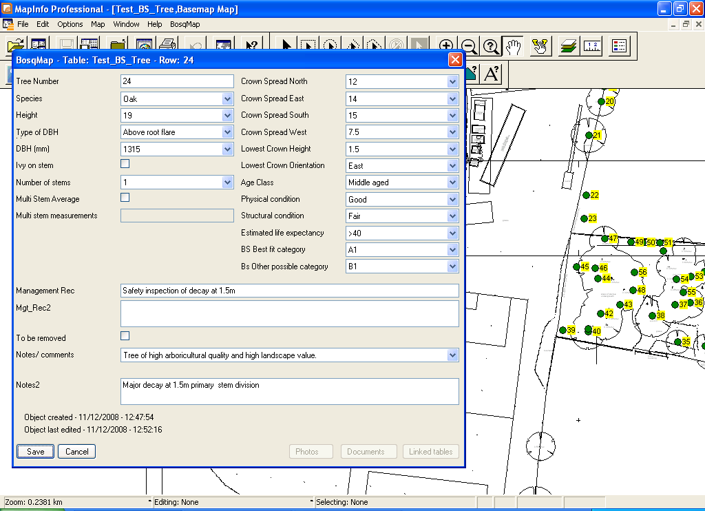 Click to view BosqMap 1.2 screenshot